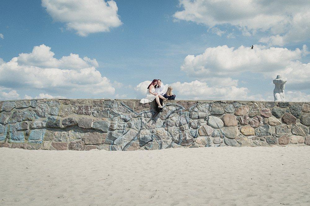 Hochzeitsfoto Ehepaar in Warnemünde