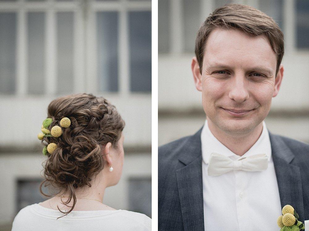 Gran Hotel Heiligendamm Hochzeit Detail Frisur