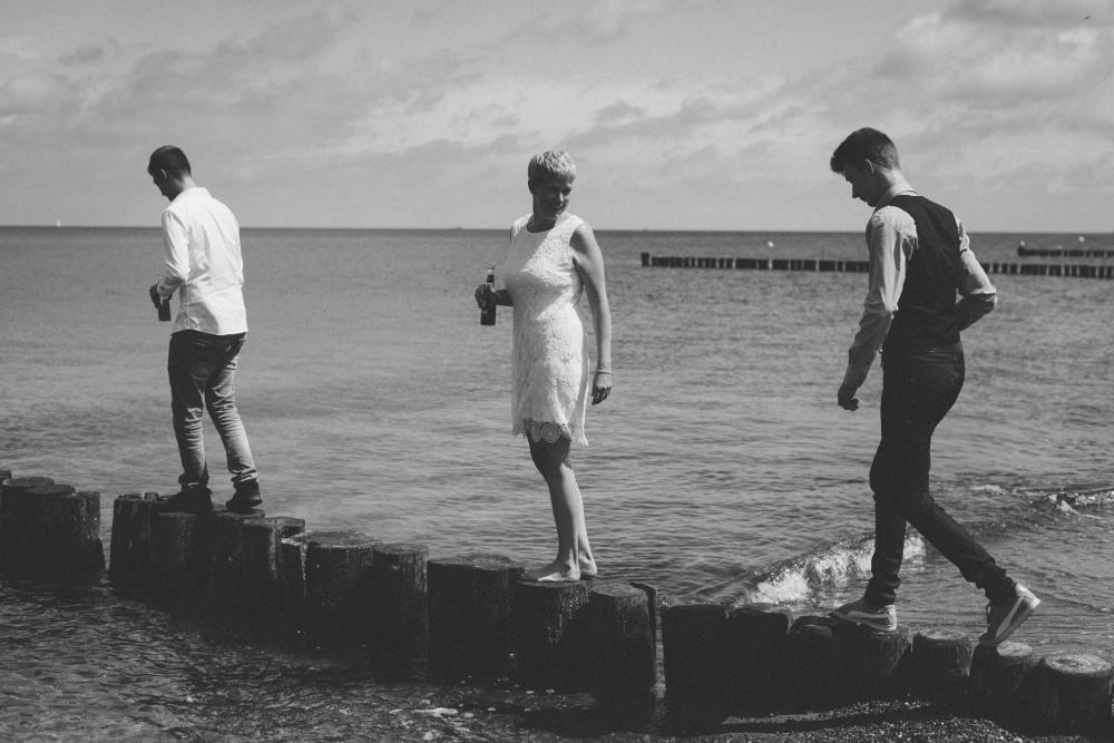 Trauung im Möckelhaus - Fotos am Meer