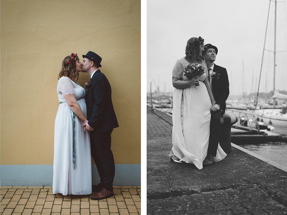 Rostock Hochzeit Paar Stadthafen Portraits